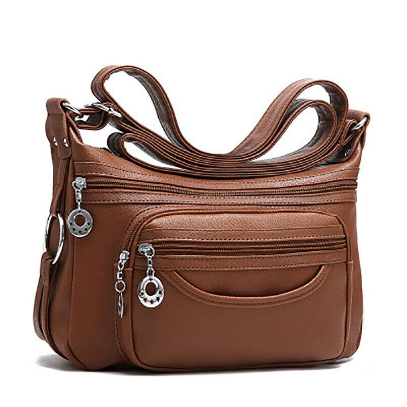Women's Casual Soft Leather Purse Shoulder Handbags Satchel