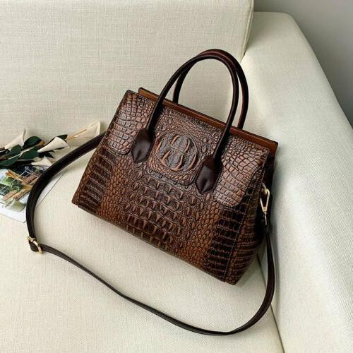 Women's Crocodile Leather Sling Bag