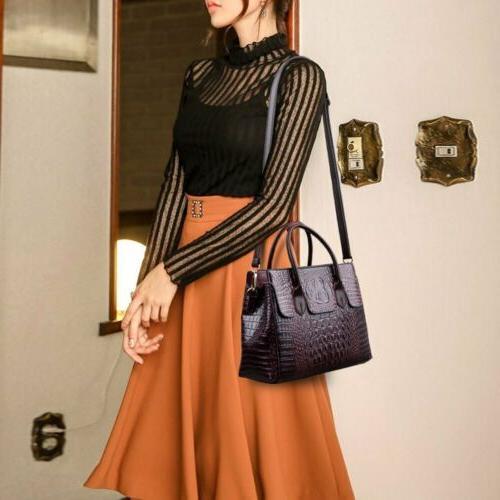 Women's Leather Handbag Sling Satchel Bag Shoulder