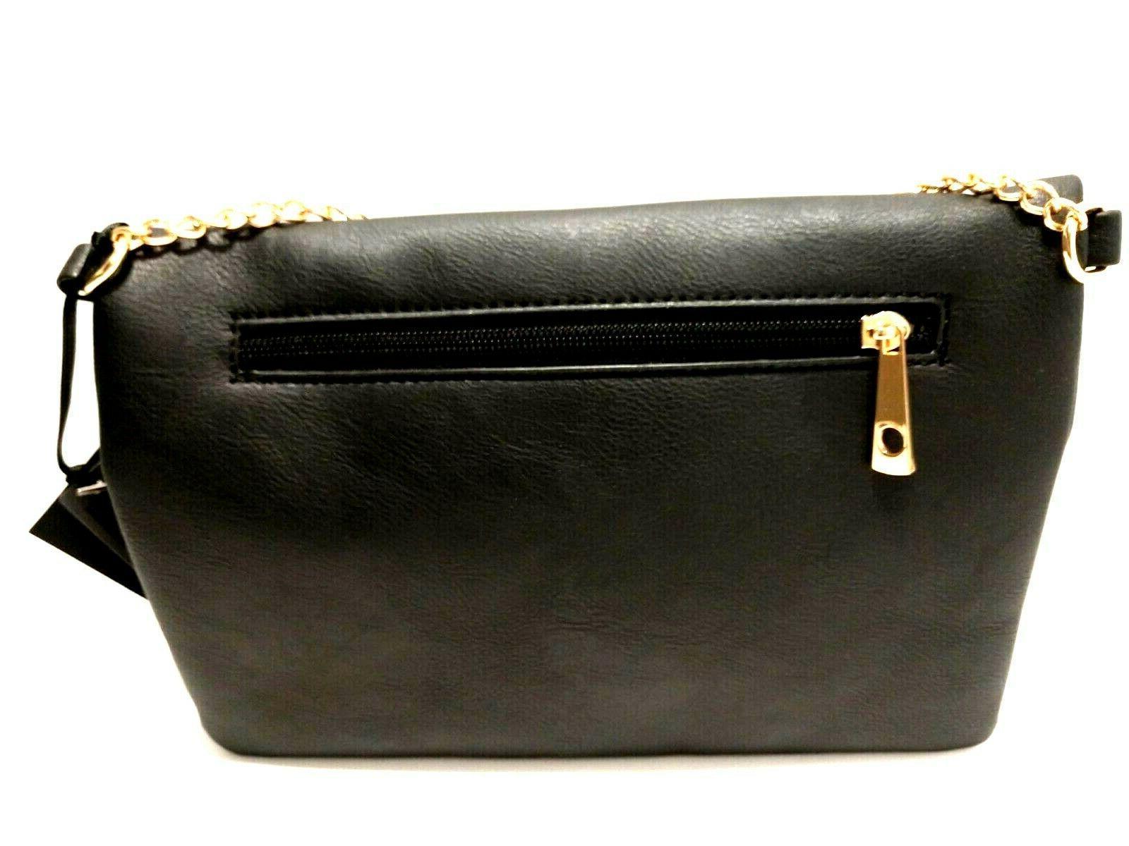 Women's Crossbody Designer Envelope Black