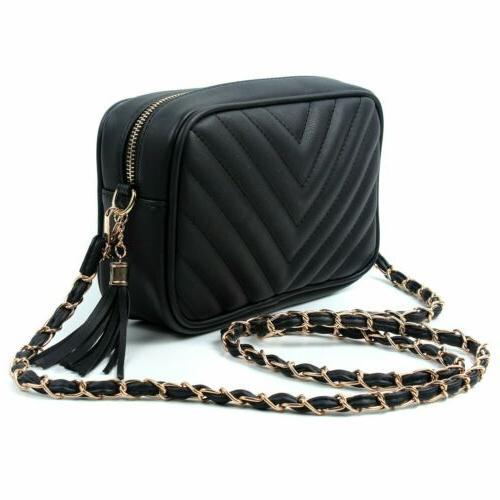 Women's Handbag Gold Leather