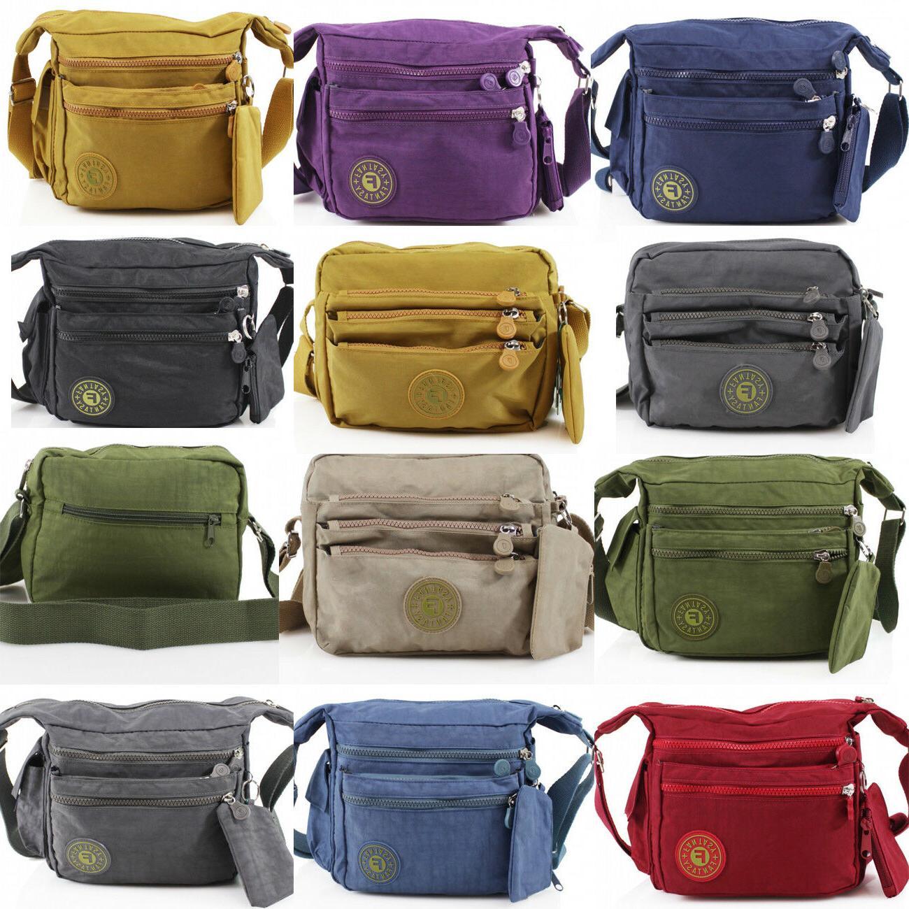 Women's Polyester Small Medium Cross Body Messenger Bag For