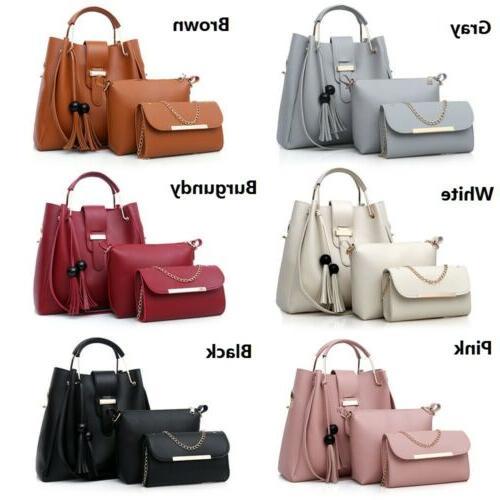 Women's Pu Purse Handbags Set Shoulder