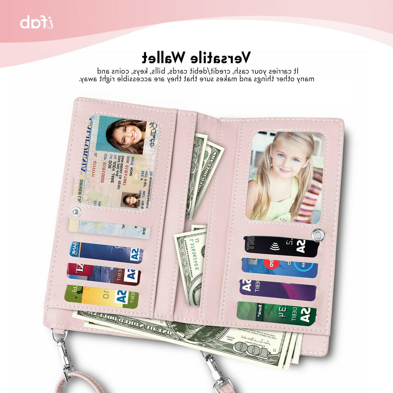 Women ifab Cell Purse Wallet Pink