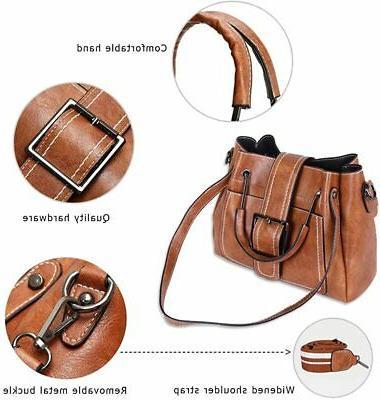Women Handbags Tote Top-handle Shoulder Bag Multi-pocket