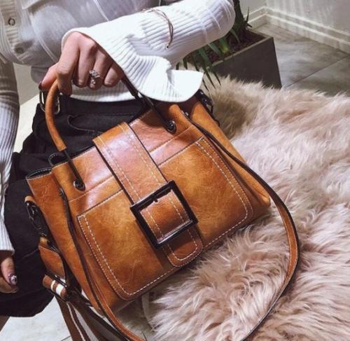 women vintage handbag shoulder bags tote leather