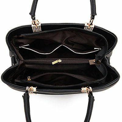 Dreubea Handbag Shoulder Crossbody Bag Rubber Pink