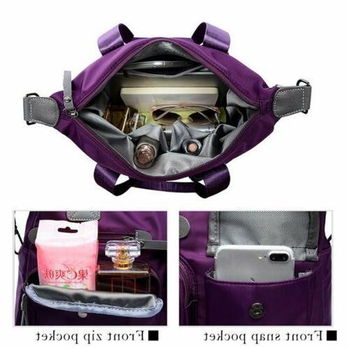 Womens Waterproof Nylon Large Capacity Shoulder Crossbody Handbag Travel Bag