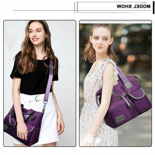 Womens Large Capacity Shoulder Crossbody Handbag Travel Bag
