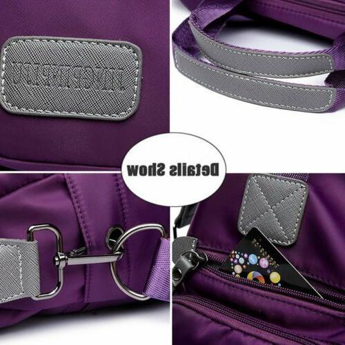 Womens Nylon Large Capacity Crossbody Travel Bag