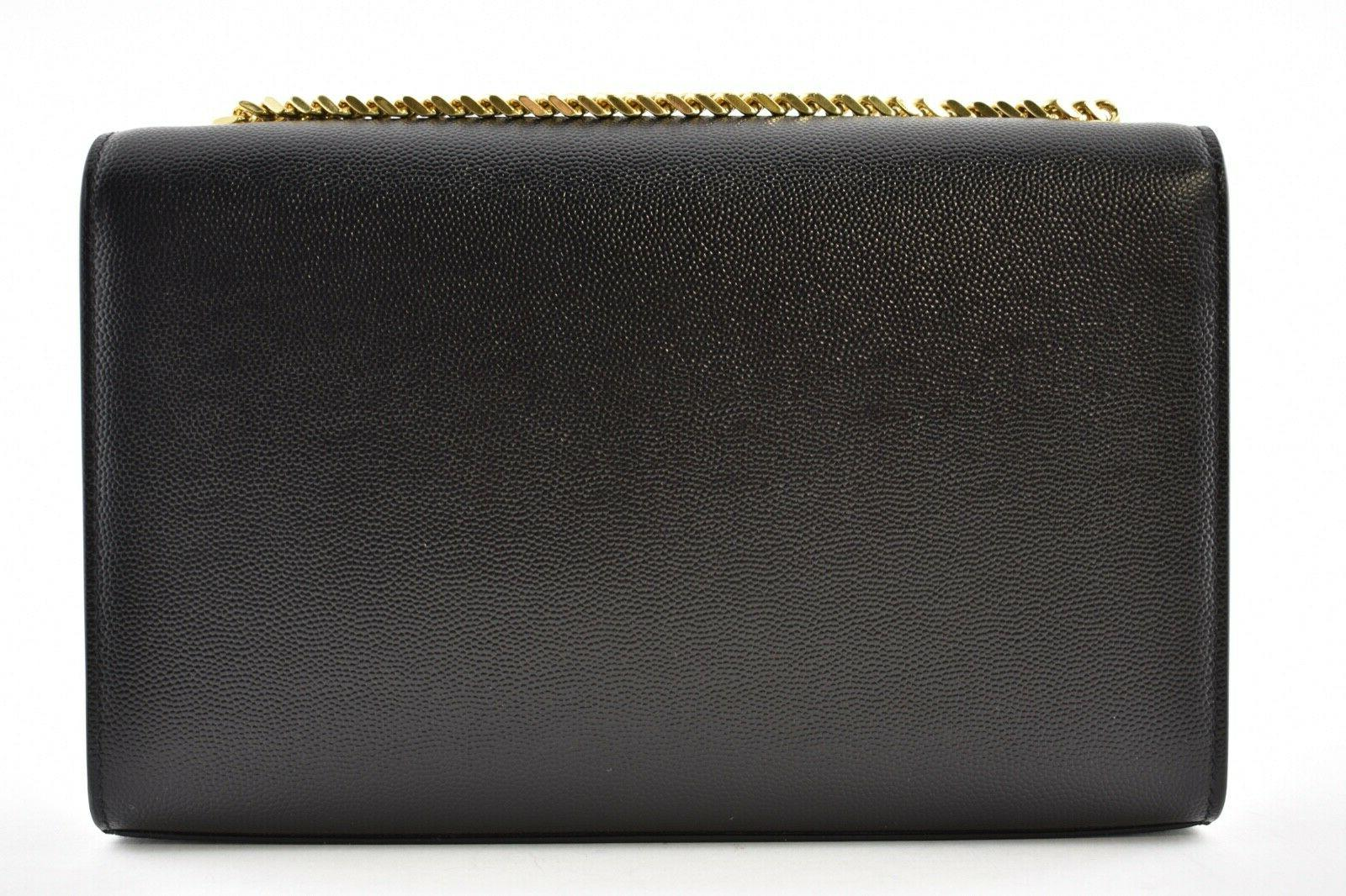 Saint YSL Monogram Kate Medium Gold Wallet Bag