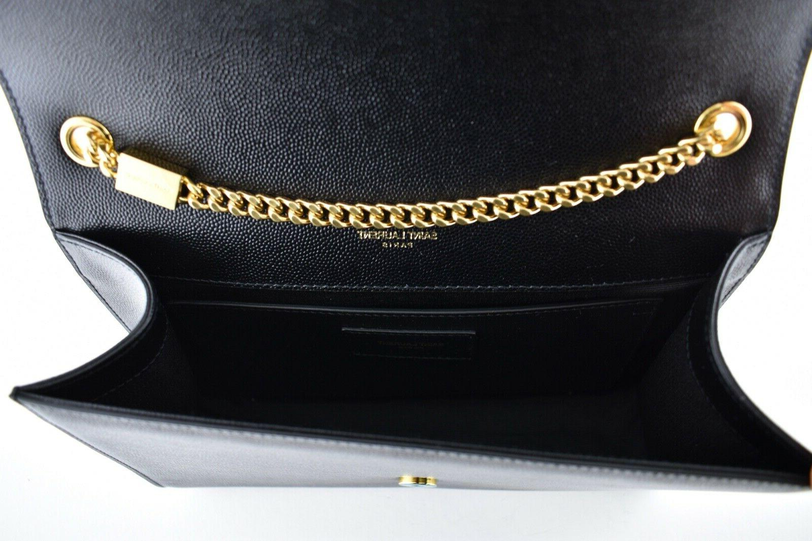 Saint Laurent Gold Tassel Wallet Chain Bag