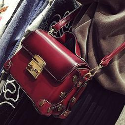 Lady's Vintage PU Leather Crossbody Bag Evening Party Bag Sm