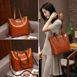 Large Capacity Smooth Leather Womens Tote for Work Office Cr