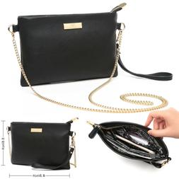 Aitbags Leather Crossbody Bag With Chain Strap Women Wristle