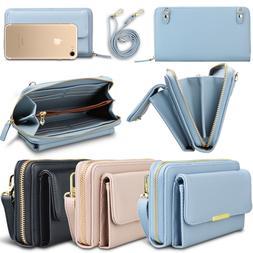 Leather Crossbody Purse Shoulder Bag Women Wallet Phone Card