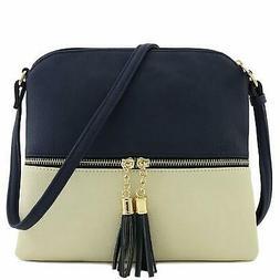 Lightweight Medium Crossbody Shoulder Strap with Tassel Bag