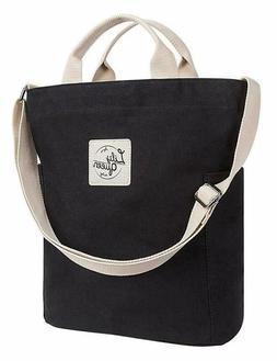 Lily Queen Women Canvas Tote Handbags Casual Shoulder Work B