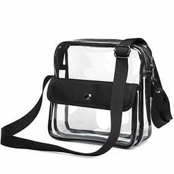 Clear Purse Stadium Approved for NFL, PGA, Clear Crossbody B