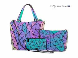 Lovevook Luminous Color 3pc Women Designer Shoulder Bag Cros