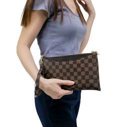 Luxury Checkered Crossbody & Clutch Bag