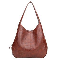 Luxury Vintage Leather Ladies Handbag Big Shoulder Crossbody
