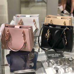 Michael Kors Medium Leather Crossbody Tote Bag Handbag Purse