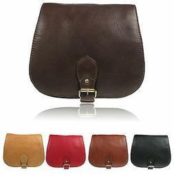Medium Size Soft Genuine Real Leather Messenger Ladies Hunte