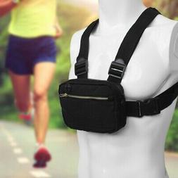 Men's Chest Bag Tactical Vest Bag Waistcoat waterproof Adjus