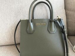 Michael Kors Mercer Medium Accordion Leather Crossbody Bag-