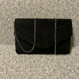 Milisente Evening Bag for Women, Suede Envelope Evening Purs