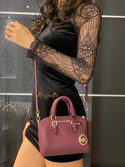 Michael Kors Mini Ciara XS Satchel Crossbody Bag Merlot $298
