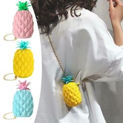 Mini Cute Pineapple Women Messenger Shoulder Bag Jelly Cross