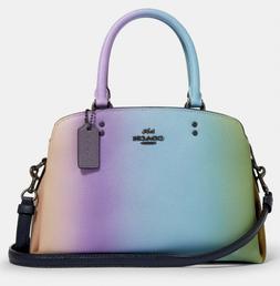💚 COACH Mini Lillie Carryall Rainbow Ombre Leather Crossb