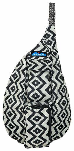 KAVU Mini Rope Sling Bag  Polyester Crossbody  Backpack - BW