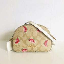 Coach Mini Serena Crossbody Watermelon Fruit 🍉 Print Purs