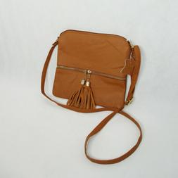 Deluxity MKII Womens Bella Tassel Charm Crossbody Purse Bag