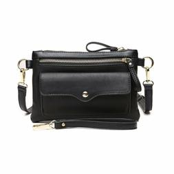 CrossLandy Multi Zip Pocket Crossbody Bag for Women Clutch P