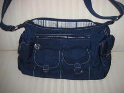 Travelon Navy Blue Crossbody Shoulder Bag Purse