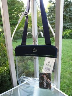 Baggallini Navy Trimming Clear Event Compliant Pocket Crossb