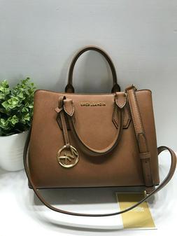 NEW Michael Kors Camille Luggage Medium Leather Satchel Shou