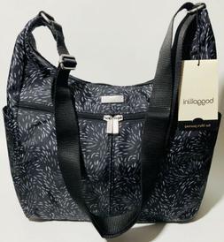 Baggallini NEW!!! CARGO BAG BLACK Grey Hobo Tote Crossbody Z
