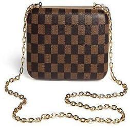 NEW Daisy Rose Checkered Minaudiere Evening bag - RFID Block