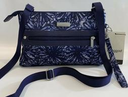 Baggallini NEW!!! CROSSBODY FLORAL BLUE Zip BAGG Everyday NW