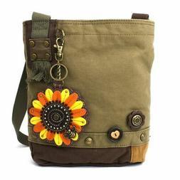 New Chala Handbag Patch Crossbody Messenger Olive Green Bag