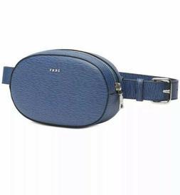 NEW DKNY Paige Circle Leather Belt Crossbody Bag  Satchel Bl