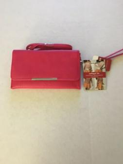 New Mundi Pebble Crossbody Wallet Bag Pink