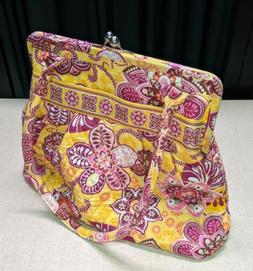 NWOT Vera Bradley Crossbody Yellow/Rose Multi Shoulder Bag P
