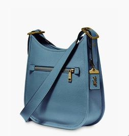 NWT COACH $395 EMERY PACIFIC BLUE LEATHER CROSSBODY BAG