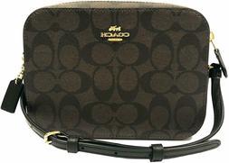 NWT Coach 91677 Mini Camera Bag in Signature Canvas Brown Bl